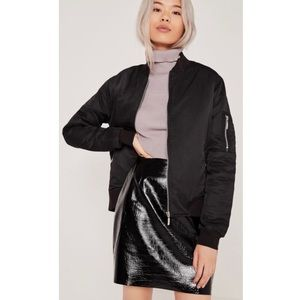 🖤 Missguided Soft Touch Black Bomber Jacket